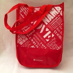 "Lululemon Athletica Reuseable Bag 12"" x 9"" x 4"""